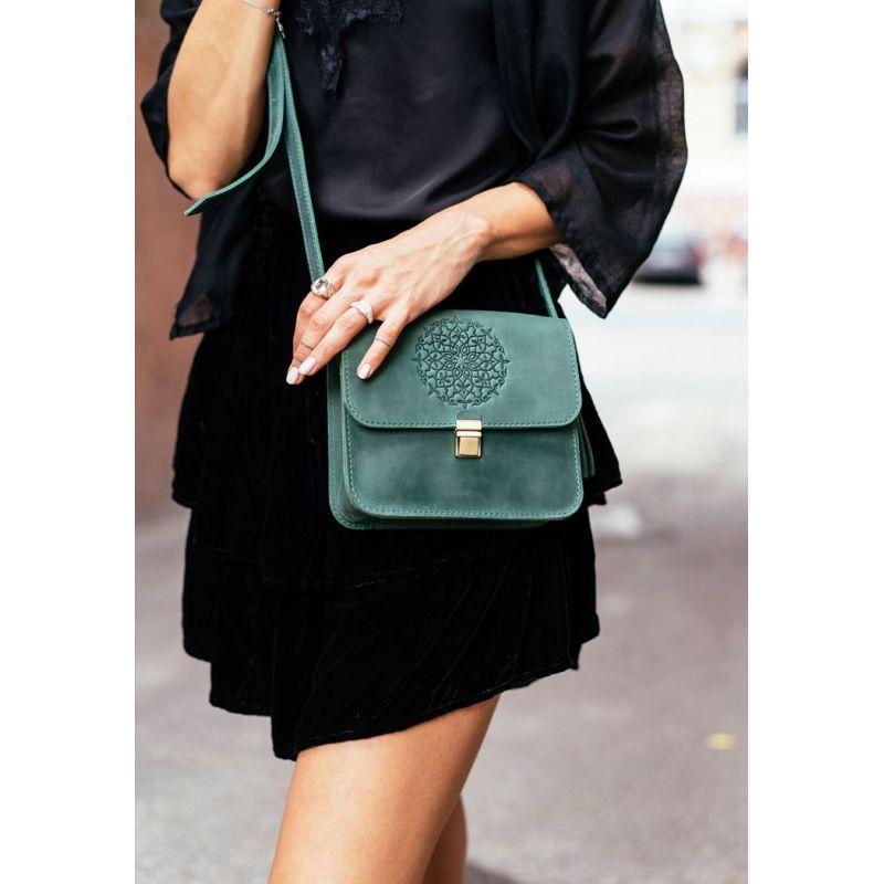 Бохо-сумка Лилу изумруд - зеленая