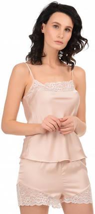 Шелковая кружевная пижама Martelle Lingerie (розовая пудра), фото 2