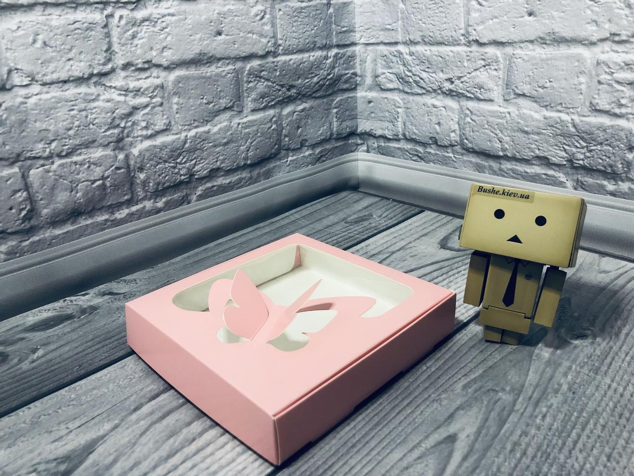 *10 шт* / Коробка для пряников / 150х150х30 мм / печать-Пудр / окно-Бабочка / лк