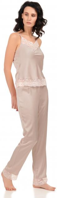 Шелковая пижама Martelle Lingerie (майка + штаны), пудра