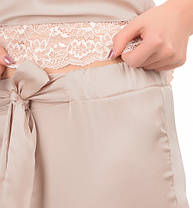 Шелковая пижама Martelle Lingerie (майка + штаны), пудра, фото 2