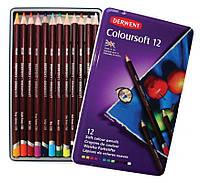 Набор цветных карандашей Coloursoft, 12шт., мет. коробка, Derwent