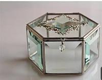 Шкатулки стеклянные декоративные для колец