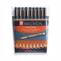 Набор линеров PIGMA Micron 9шт., разноцветные, Sakura