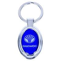 Брелок металлический с силиконовой наклейкой DAEWOO (Металл силик.)