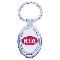 Брелок металлический с силиконовой наклейкой KIA (Металл силик.)