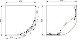 Душевая кабина Primera Frame 900X900X1900, стекло шиншилла, фото 2