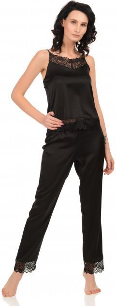 Шелковая пижама Martelle Lingerie (майка + штаны), черная