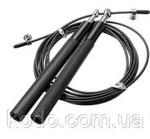 Скоростная МЕТАЛИЧЕСКАЯ скакалка PRO- скакалка на подшипниках Черный, фото 2