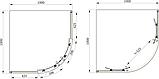 Душевая кабина Primera Frame 1000X1000X1900 стекло серое, фото 2