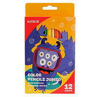 Карандаши цветные Kite Jumbo 12 штук