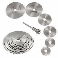 Набор из 6 отрезных кругов дисковых пил HSS 22-50мм для дремеля гравера (z04651)