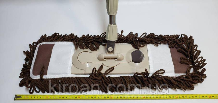 Швабра-полотер, ворсистая насадка из микрофибры 55 см, фото 2