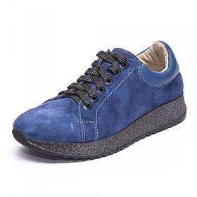 Кроссовки замшевые синие 805-06
