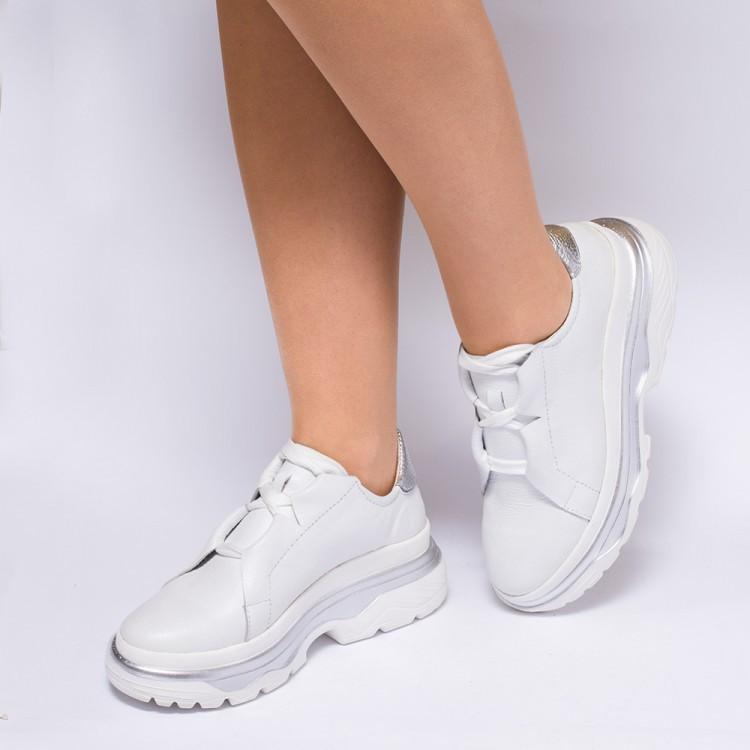 Кроссовки массивные белые 931-01