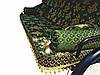 Качель садовая Rud Barokko Green-Gold с антимоскитной сеткой, фото 2