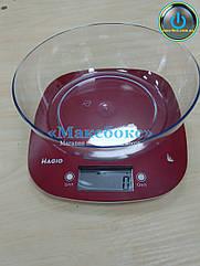 Весы кухонные с чашей Magio RED