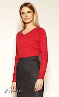 Женский свитер красного цвета. Модель Sonya Zaps