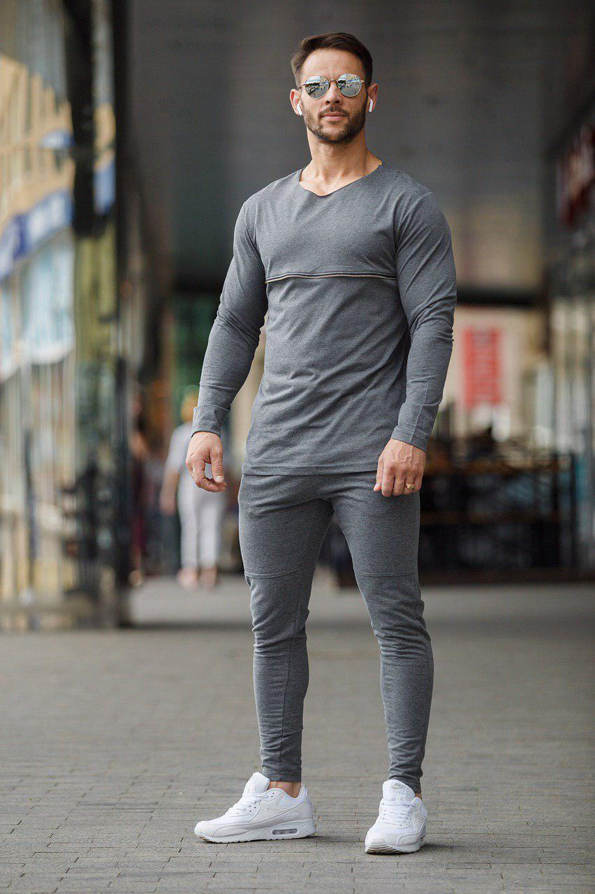 Мужской спортивный костюм 2Y Premium P-5102 серый