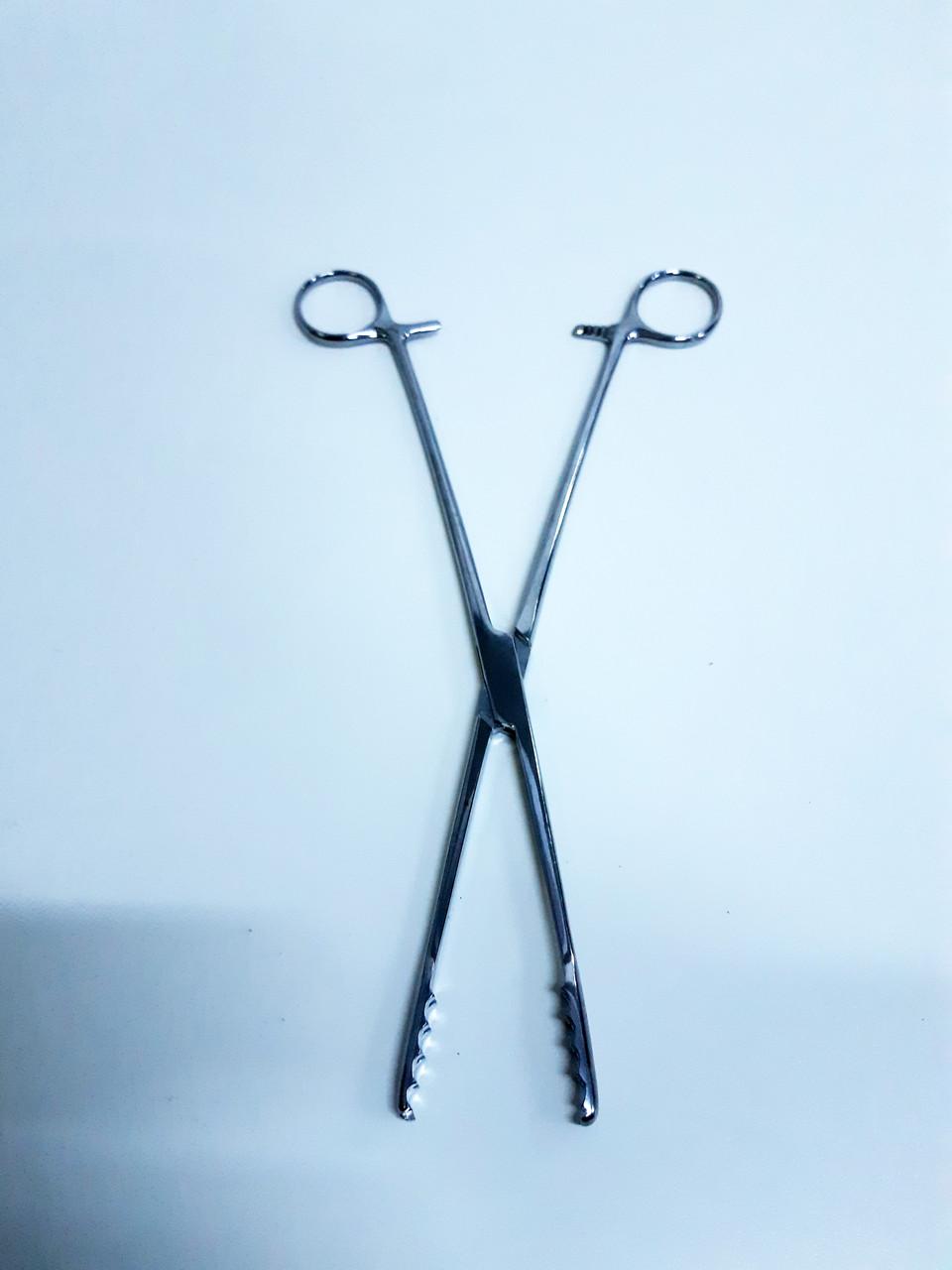 Щипці для ватних тампонів по Ulrich, прямі 250, 30*7мм