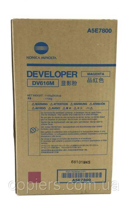 Девелопер DV616 M Konica Minolta bizhub PRESS C1085 C1100 оригинал, dv-616, A5E7800