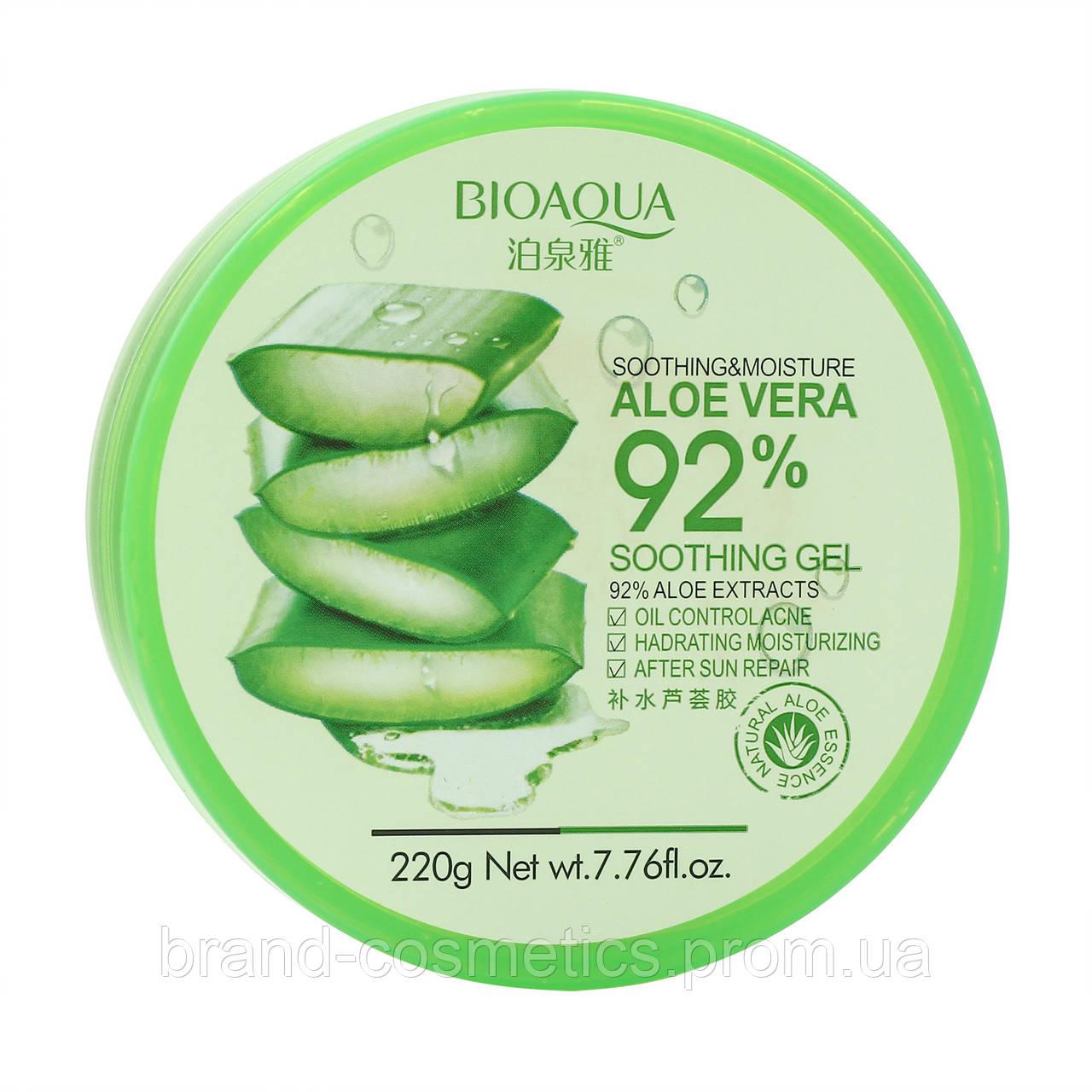 Гель для лица и тела Bioaqua Aloe Vera 92% Soothing Gel
