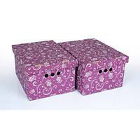 Набор картонных ящиков для хранения А4, тюльпан 2шт