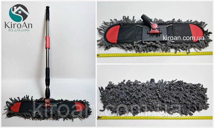 Швабра-натирач, ворсиста насадка з мікрофібри 53 см, фото 2
