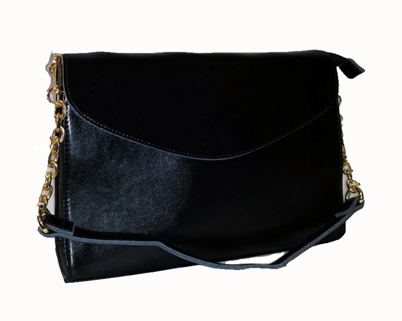Женская сумка-клатч Mariposa с клапаном на кнопке Черная