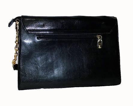 Женская сумка-клатч Mariposa с клапаном на кнопке Черная, фото 2