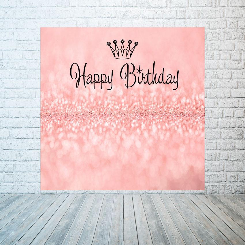 Аренда баннера  Розовые блестки, размер 2х2м