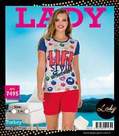 LADY LINGERIE Футболка+шорты 7495