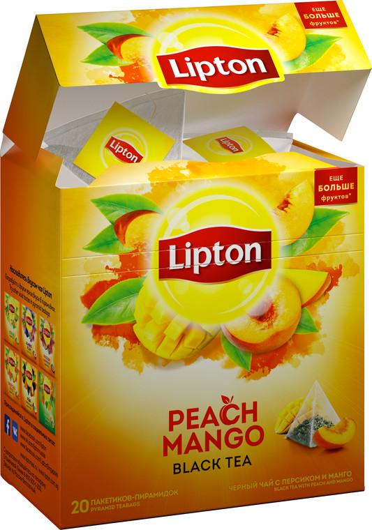 Чай Lipton Peach Mango (20 шт) черный