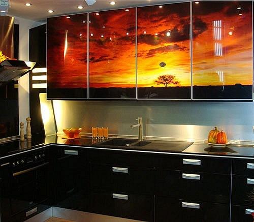 Кухонный фартук из стекла крашеный купить в Днепропетровске — 1008240590