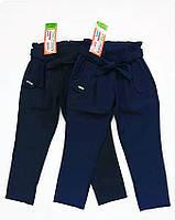 Детские штаны брюки галифе школьные для девочки 128 рост синие