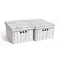 Набор картонных ящиков для хранения А4, ажур 2шт