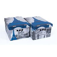 Набор картонных ящиков для хранения А4, Paris 2шт