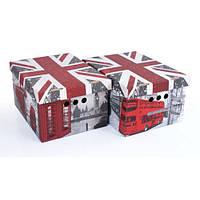 Набор картонных ящиков для хранения А4, London 2шт