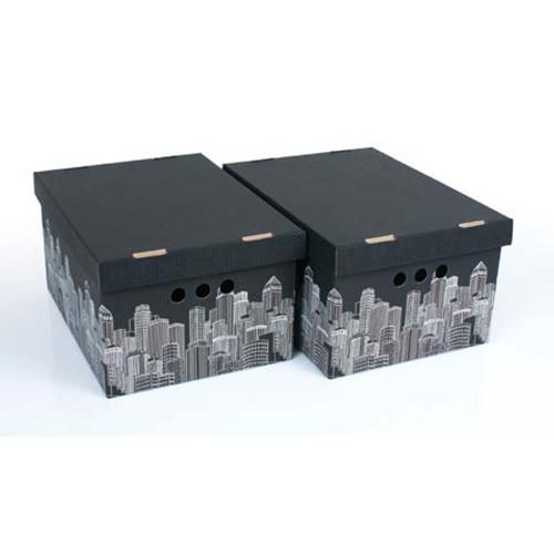 Набор картонных ящиков для хранения А4, City  2шт