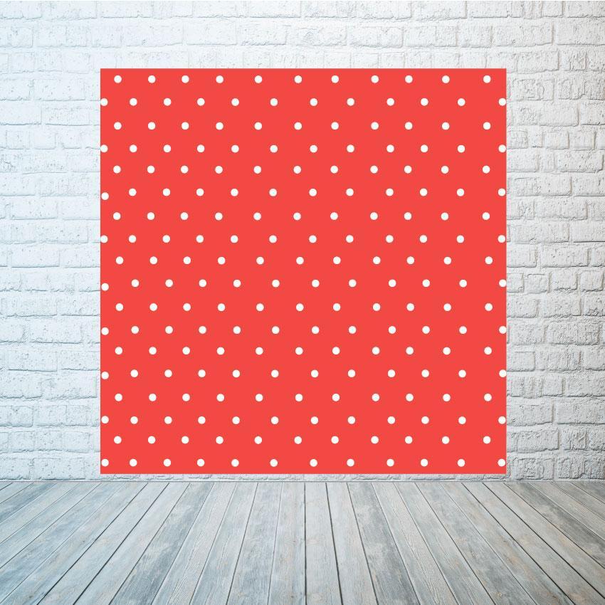 Аренда баннера  Красный в белый горошек, размер 2х2м