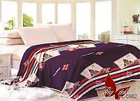 Плед покрывало 200х220 велсофт Лондон на кровать, диван