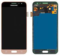 Дисплей (экран) Samsung J320 Galaxy J3 (2016) PLS TFT (с регулируемой подсветкой)с тачскрином, золотистый