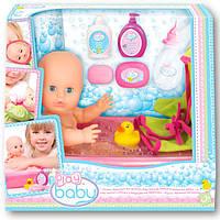 Кукла 32см с ванночкой для купания(ванночка, лосьон, шампунь, мыло и мыльница) в кор. 34*29*21см. //