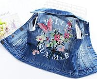 Дитяча жилетка з квітковим принтом / Высококачественная Детская жилетка, джинсовая куртка, одежда с цветочным
