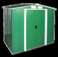 Сарай металлический ECO 202x122x181 см зеленый с белым