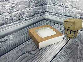 Коробка для пряников / 120х120х30 мм / Крафт / окно-обычн