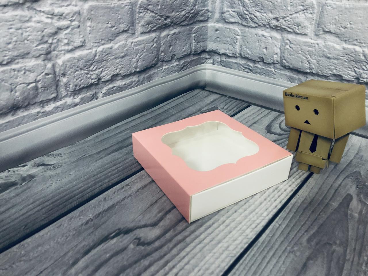 *50 шт* / Коробка для пряников / 120х120х30 мм / печать-Пудр / окно-обычн / лк