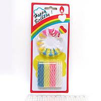 """Набор свечей для торта """"Happy Birthday"""" 24шт., средние (10453)"""