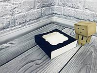 *50 шт* / Коробка для пряников / 120х120х30 мм / печать-Черн / окно-обычн, фото 1