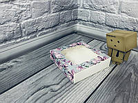 *50 шт* / Коробка для пряников / 120х120х30 мм / печать-Магнол / окно-обычн / лк / цв
